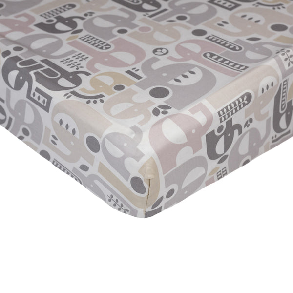 Fitted Sheet - Naturi Print - Living Textiles Co.
