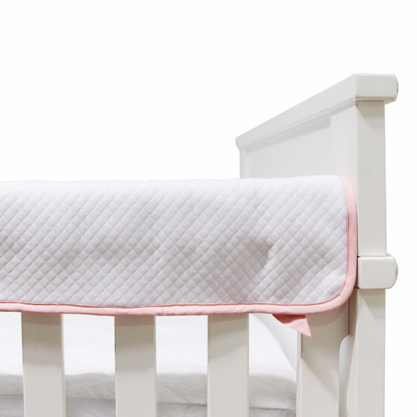 Diamond Matelasse Crib Railing - White - Living Textiles Co.