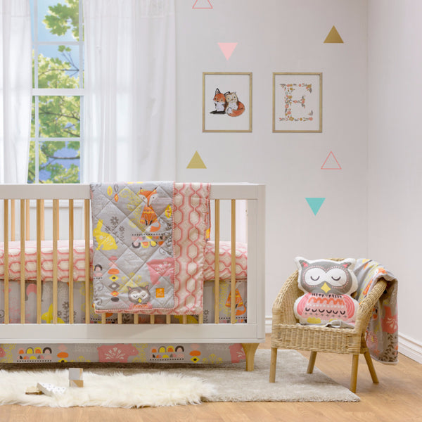 4pc Crib Bedding Set - Enchanted Garden