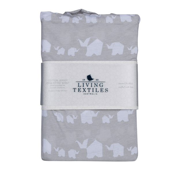 Fitted Sheet - Elephant Parade - Living Textiles Co.