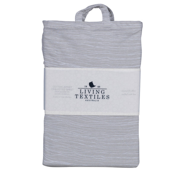 Fitted Sheet - Grey Crinkle - Living Textiles Co.