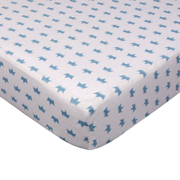 Fitted Sheet - Little Crowns - Living Textiles Co.