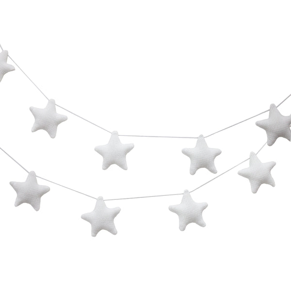Knitted Garlands - White Stars