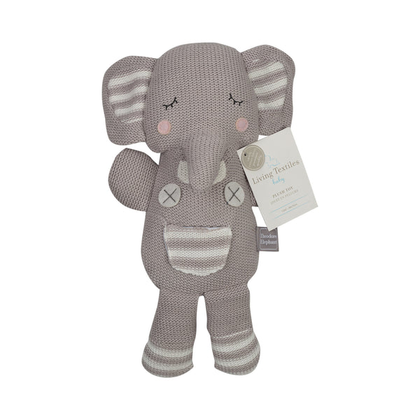Plush Toy - Grey Theodore Elephant - Living Textiles Co.