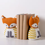 Knitted Bookend Friends - Fox