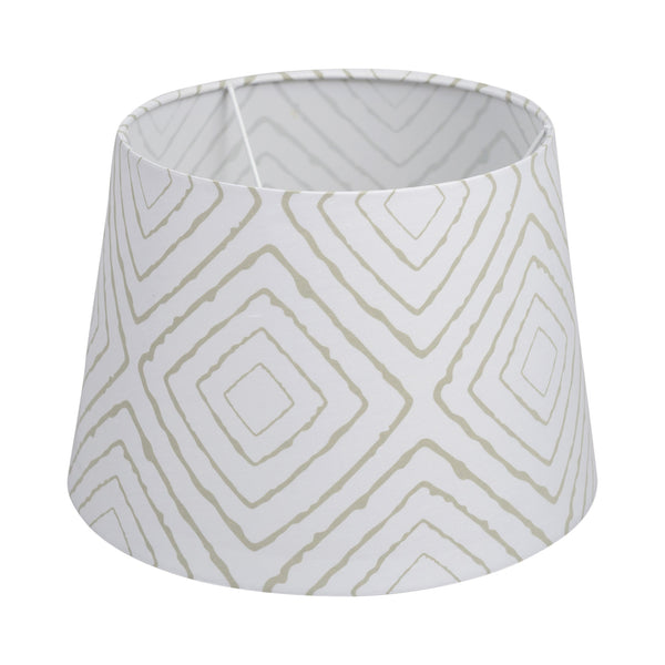 Lamp Shade - Grey Maze - Living Textiles Co.