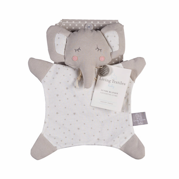 Elephant Blankie - Little Grey Star - Living Textiles Co.