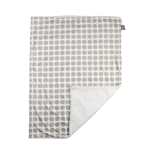 Velboa Blanket - Grey Mod Dot - Living Textiles Co.