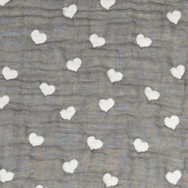 Wearable Blanket - Sketched Hearts - Living Textiles Co.