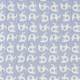 Muslin Reversible Wearable Blanket - Blue Elephant - Living Textiles Co.