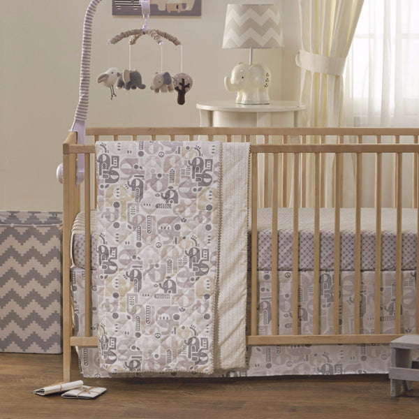 Baby Quilted Comforter - Elephant - Living Textiles Co.