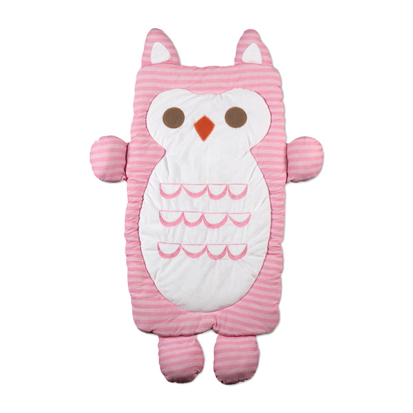 Mod Pink Owl Play Mat | Lolli Living | Living Textiles Co.
