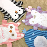 Owl Penguin Fox Whale Mod Stripe Play Mat | Lolli Living | Living Textiles Co.