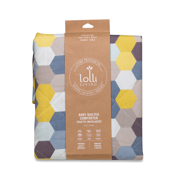 Quilted Comforter - Hexagon - Living Textiles Co.