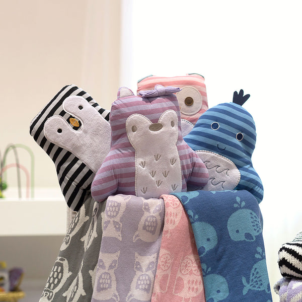 Mod Pink Owl Knit Toy | Lolli Living | Living Textiles Co.