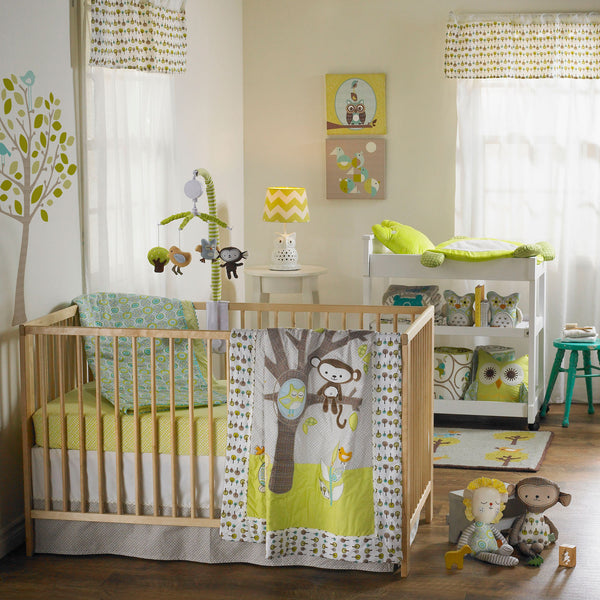 4-piece Crib Set - Animal Tree - Living Textiles Co.