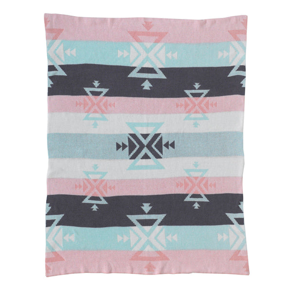 Knitted Cotton Blanket - Aztec - Living Textiles Co.