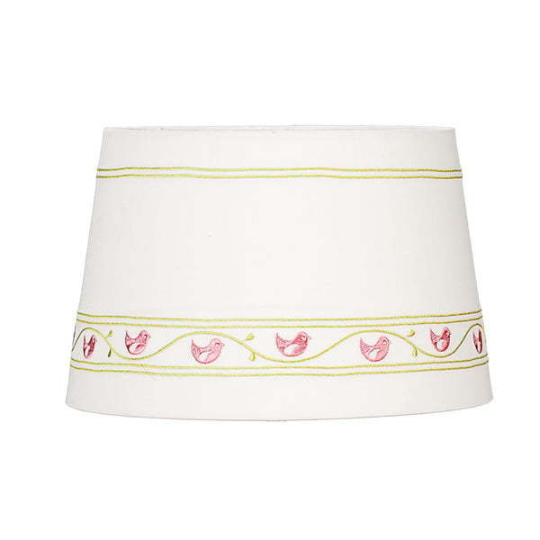 Lamp Shade - Pink Birdies on a Vine - Living Textiles Co.