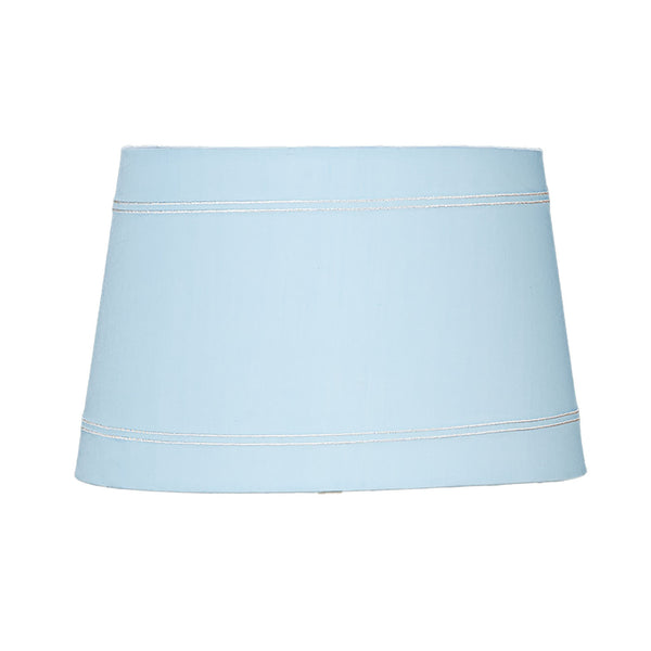 Lamp Shade - Blue Trim - Living Textiles Co.