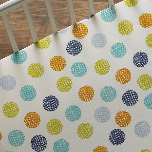 Fitted Sheet - Bot Dot - Living Textiles Co.