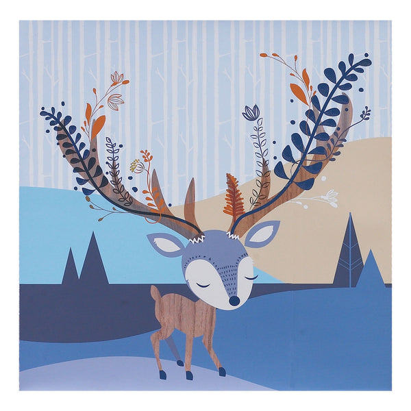 Canvas Art - Woods Deer - Living Textiles Co.