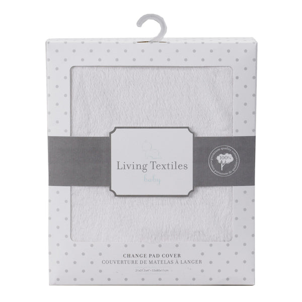 Change Pad Cover - Solid White - Living Textiles Co.