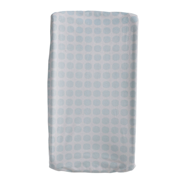 Change Pad Cover - Blue Mod Dot - Living Textiles Co.