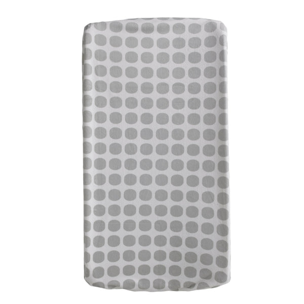 Change Pad Cover - Grey Mod Dot - Living Textiles Co.