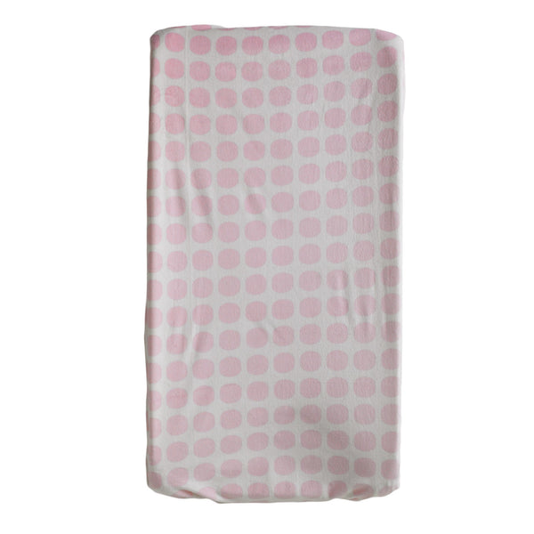 Change Pad Cover - Pink Mod Dot - Living Textiles Co.