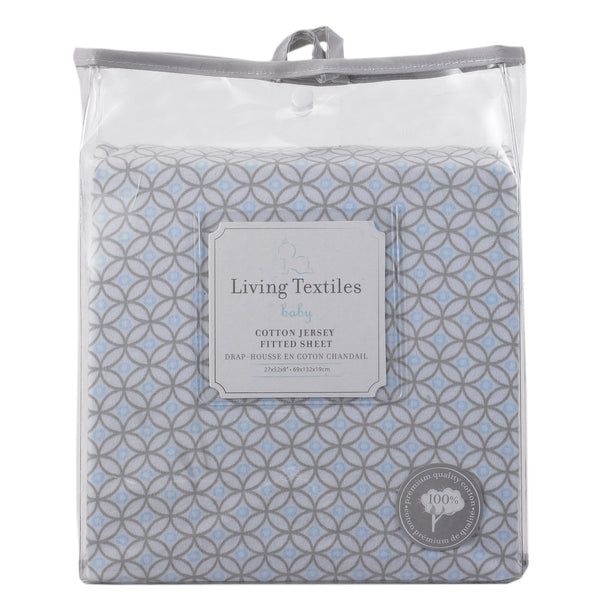 Jersey Fitted Sheet - Skylar - Living Textiles Co.