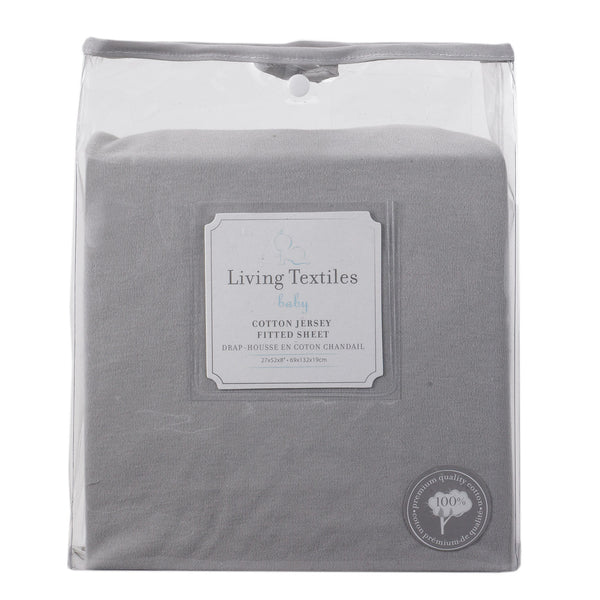 Jersey Fitted Sheet - Grey - Living Textiles Co.