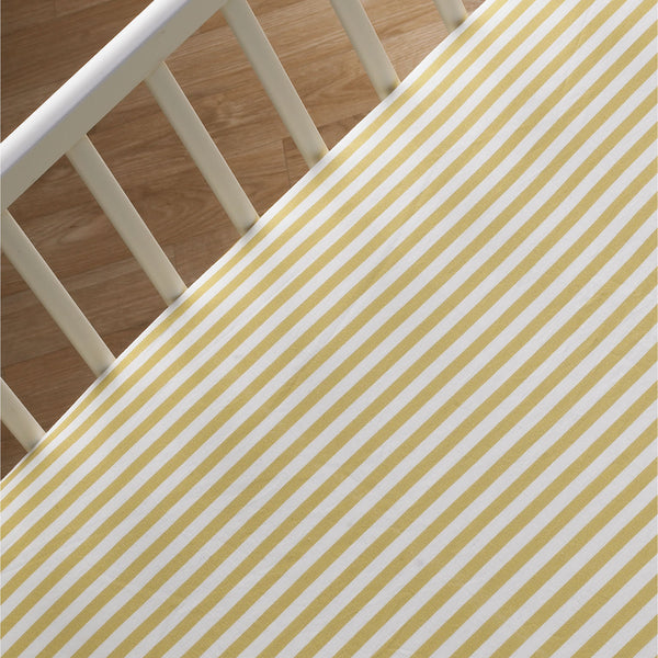 Fitted Sheet - Amber Stripe - Living Textiles Co.