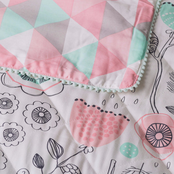 Quilted Comforter - Sparrow Print - Living Textiles Co.