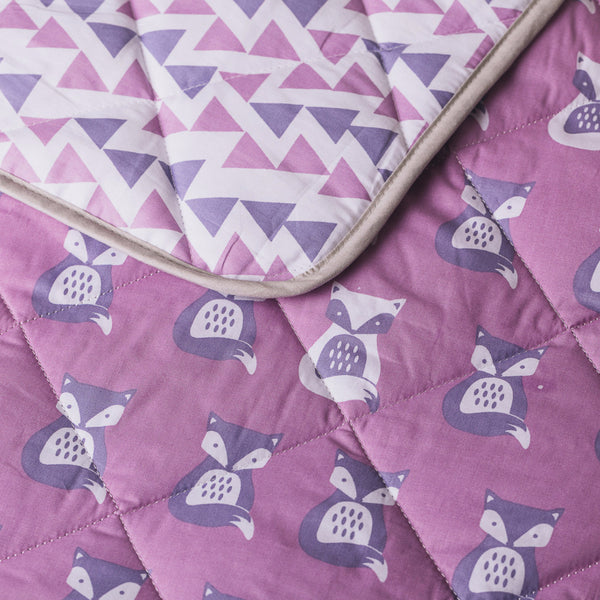 Purple Fox Quilted Comforter - Living Textiles Co.