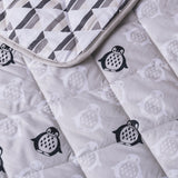 Grey Penguin Mod Stripe Baby Quilted Comforter | Lolli Living | Living Textiles Co.