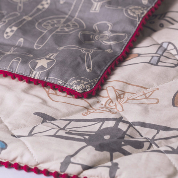 Aeroplanes Baby Comforter - Living Textiles Co.
