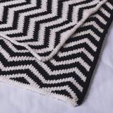 Black Chevron Blanket Baby | Lolli Living | Living Textiles Co.