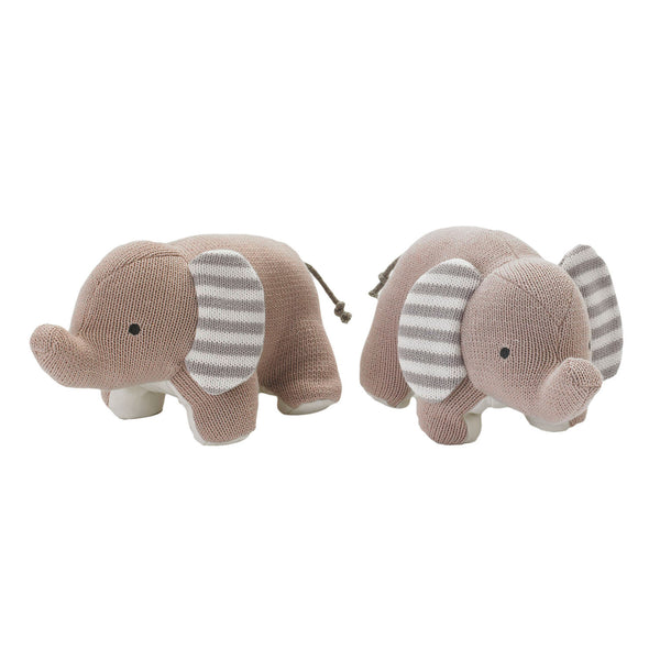 Bookends - Knitted Elephant - Living Textiles Co.