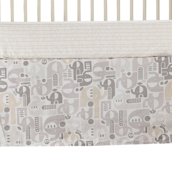Crib Bed Skirt - Elephant - Living Textiles Co.