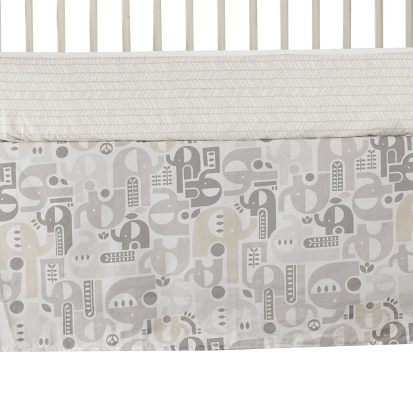 4-piece Crib Set - Naturi - Living Textiles Co.