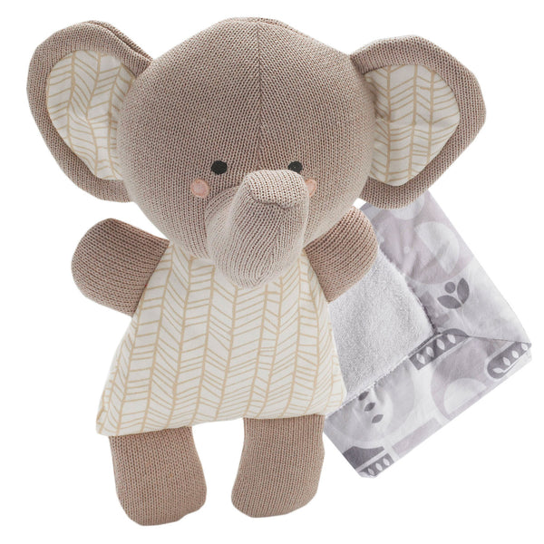 Toy & Blankie Set - Emmerson Elephant - Living Textiles Co.