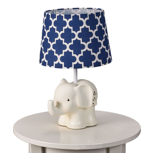 Elephant Lamp Base & Shade - Living Textiles Co.