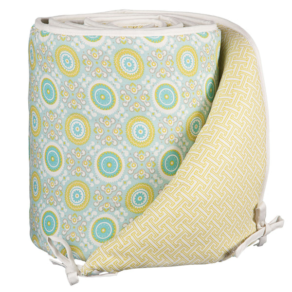 Gio Labyrinth Green Crib Bumper