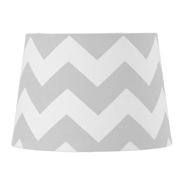 Lamp Shade - Grey Zig Zag - Living Textiles Co.