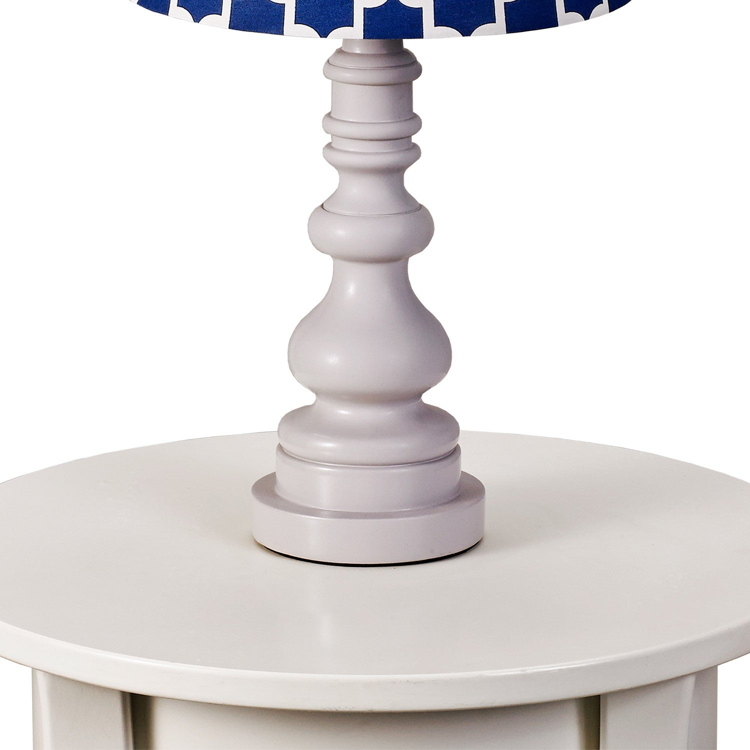 Lamp Base- Grey Spindle - Living Textiles Co.