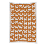 Mod Jacquard Knit Blanket - Fox - Living Textiles Co.