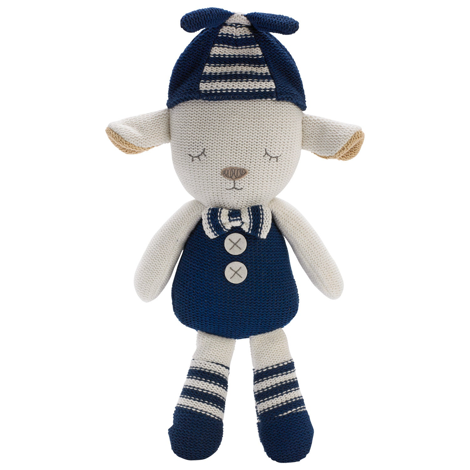 Plush Toy - Navy Grayson Lamb - Living Textiles Co.