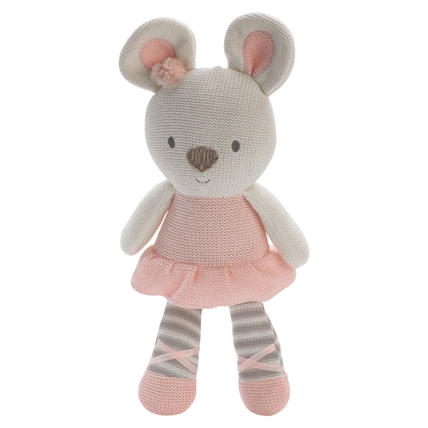 Plush Toy - Pink Tammie Mouse - Living Textiles Co.