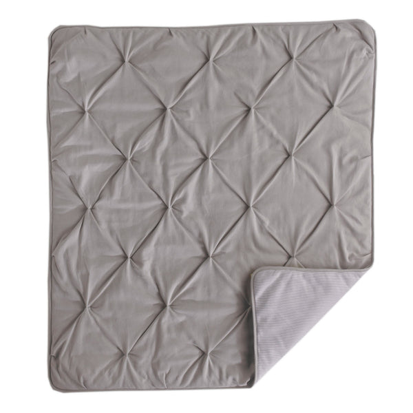 Jersey Pintuck Comforter - Grey - Living Textiles Co.