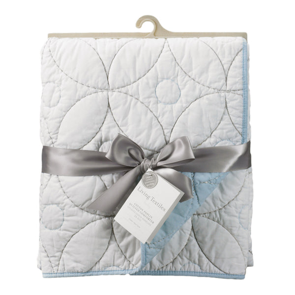 Cotton Poplin Comforter - White/Blue - Living Textiles Co.